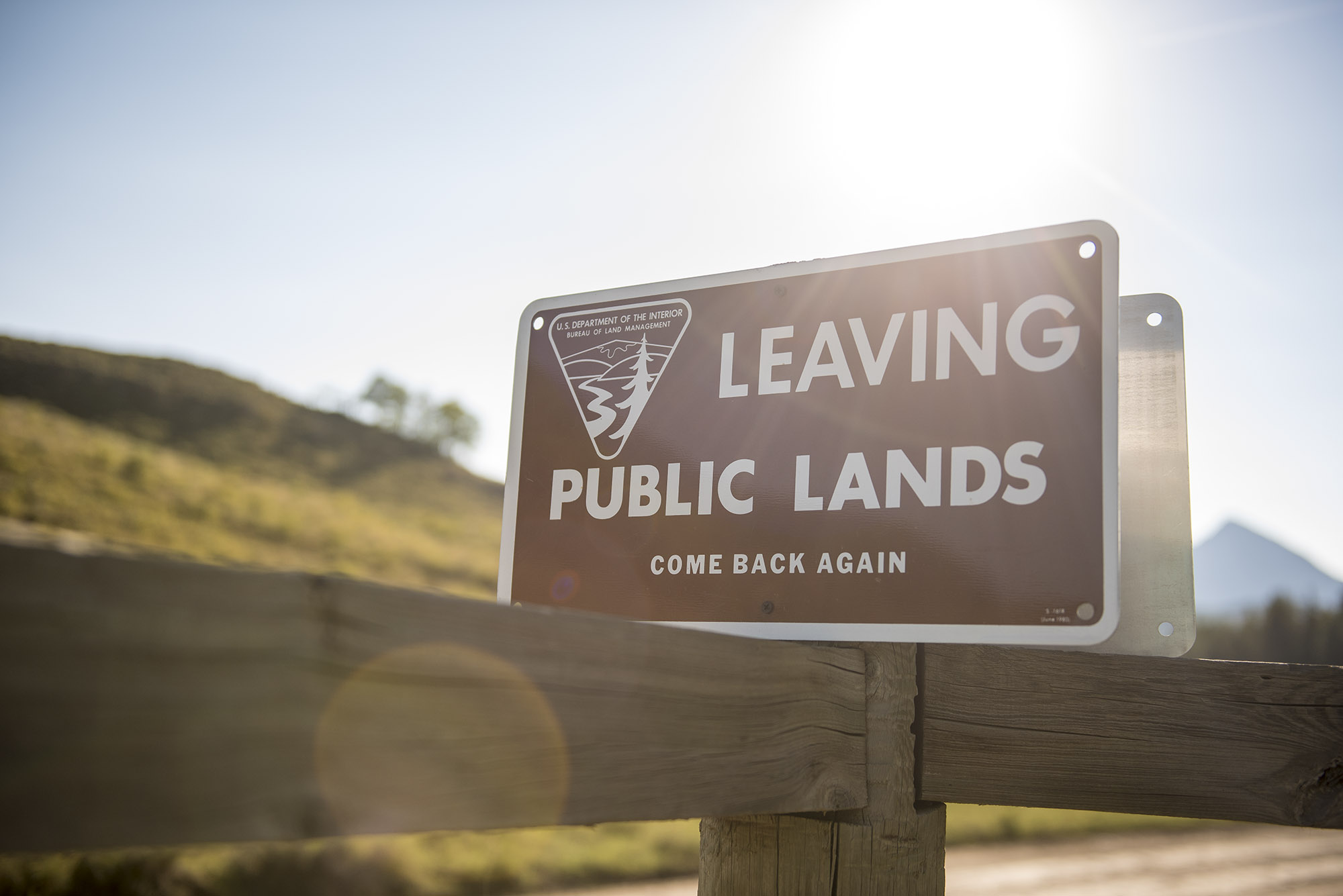 Now leaving public lands