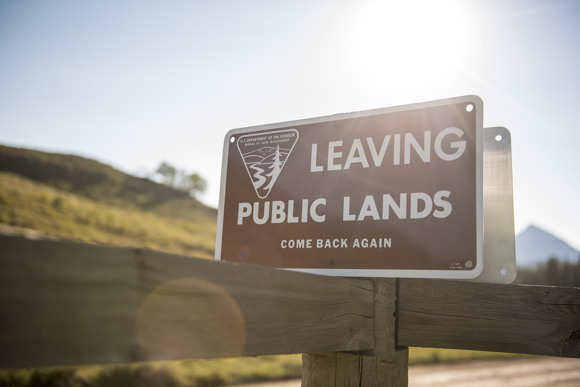 Now leaving public lands
